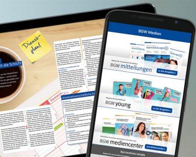 Bild zu Neue App: BGW-Magazine jetzt noch komfortabler unterwegs lesen