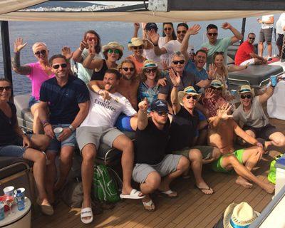 Bild: Get-together mit Kevin Murphy auf Ibiza