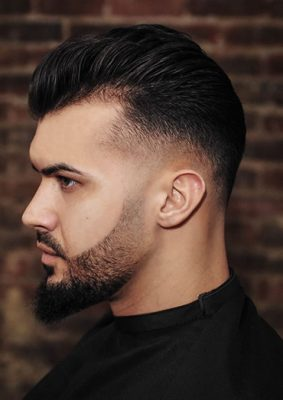 Mid Fade Pompadour by Michael Damiano
