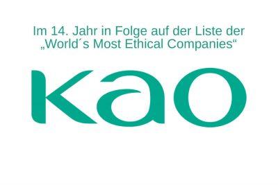 Bild zu Kao erneut auf der Liste der ethischsten Unternehmen