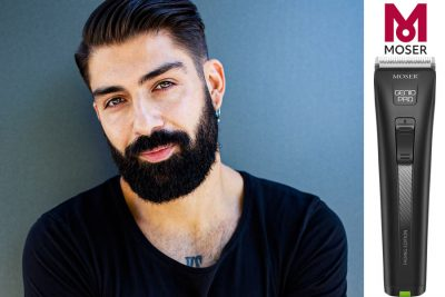 Bild zu Modern Side Part & Beard Look by MOSER