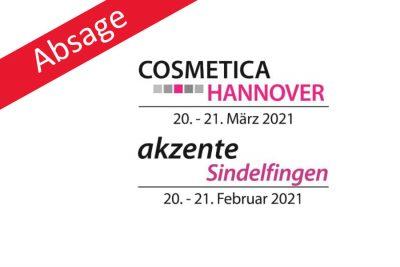 Bild zu Absage: akzente Sindelfingen und COSMETICA Hannover 2021 finden nicht statt