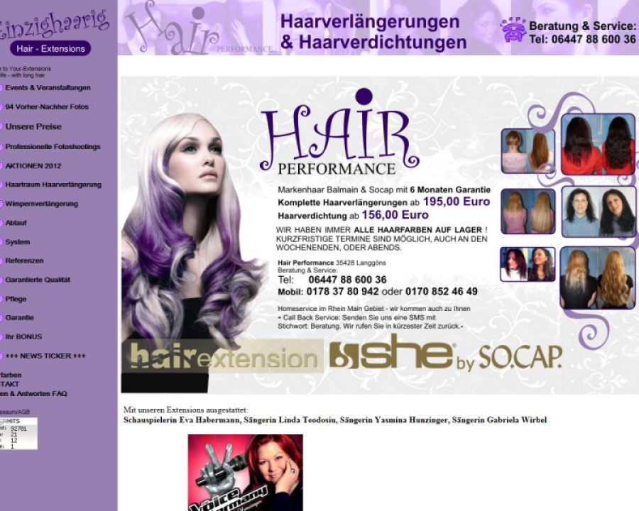 Hair Performance: Friseursalons