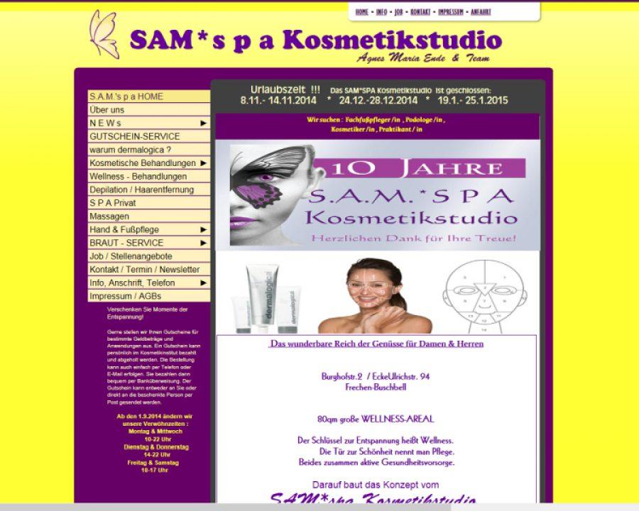SAM`s p a: Kosmetik