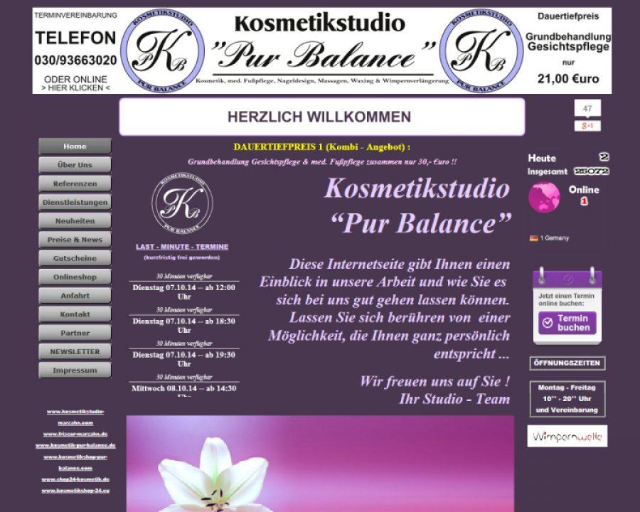 Kosmetikstudio Pur Balance: Kosmetik