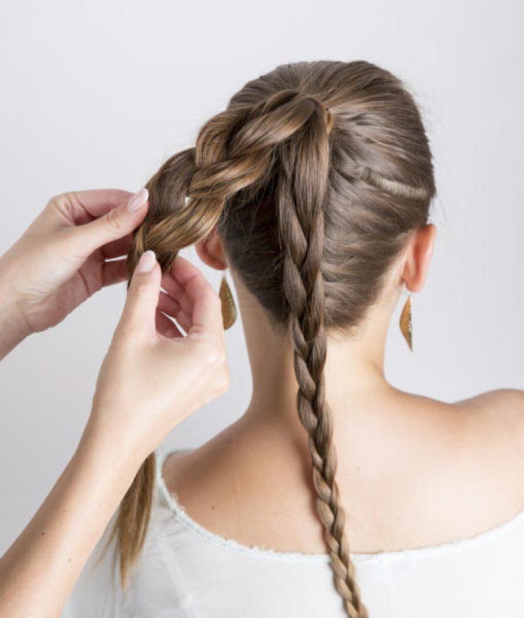 Französischer Zopf Mit Dutt Friseurportal Frisuren Trends Haare