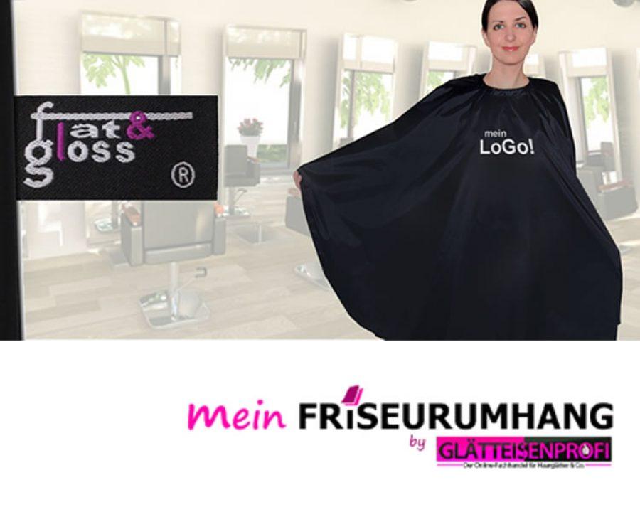 Friseurumhang mit eigenem Logo