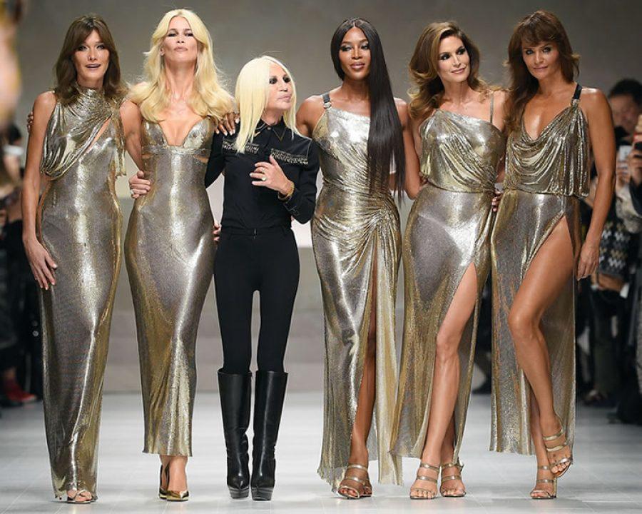 Supermodel-Reunion bei Versace