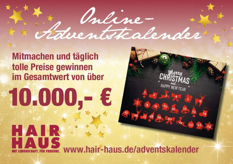 Der 1. HAIR HAUS Online-Adventskalender