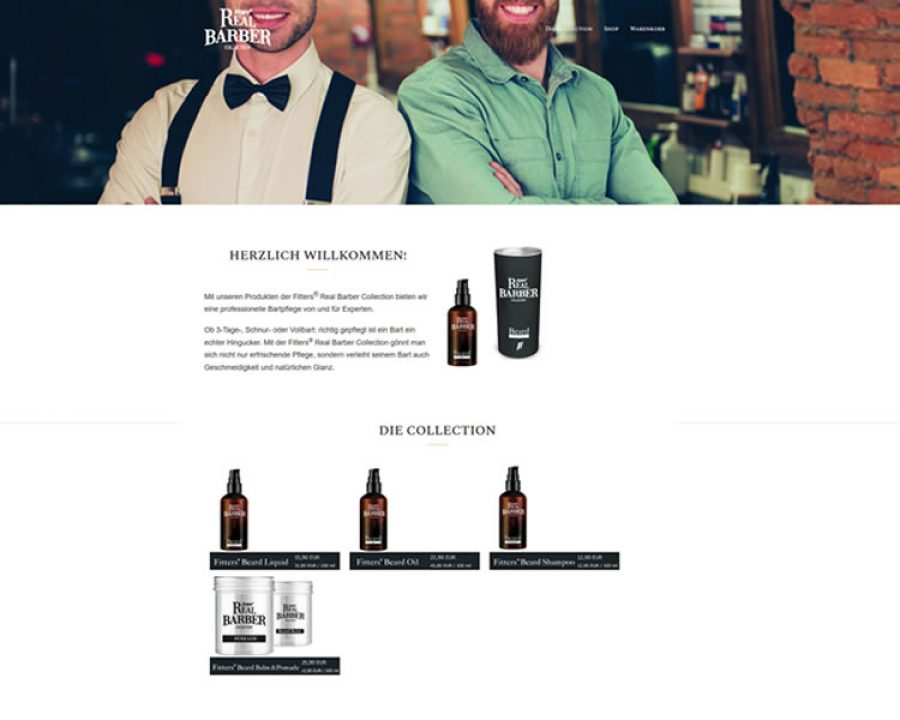Fitters® Real Barber Collection für Barbershops und Salons: