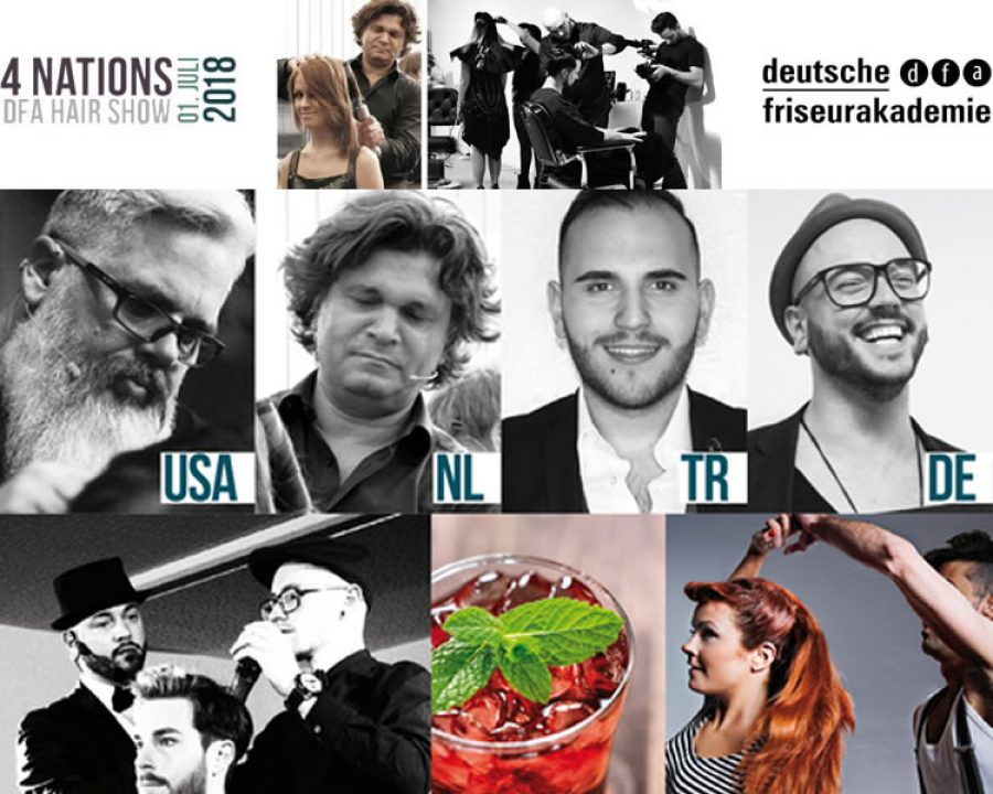 Newsbild Show of the Year: Die dfa 4 Nations Hair Show am 01.07.2018