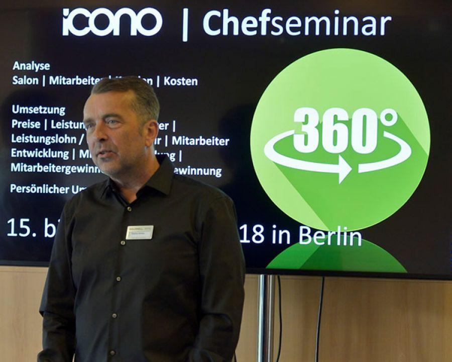 Frisuren 2018 - icono Chefseminar in Berlin vom 15. bis 17.10.2018