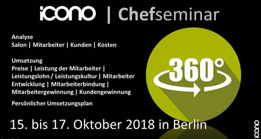 icono Chefseminar in Berlin vom 15. bis 17.10.2018