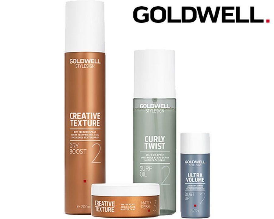 Ab sofort begeistern vier neue Stylingprodukte von Goldwell alle Textur Liebhaber