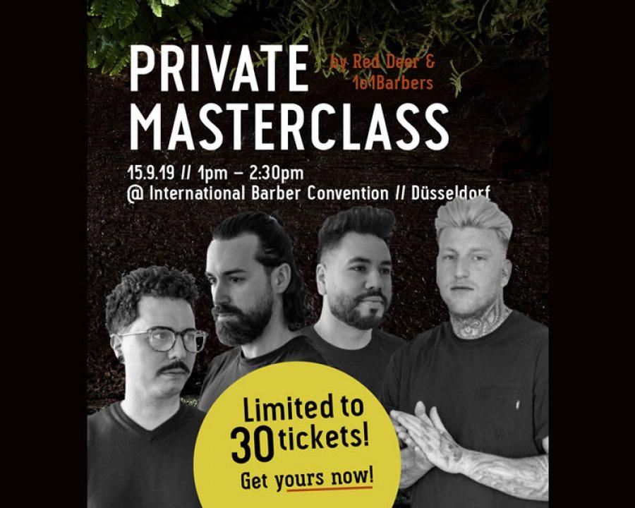 Masterclass im Rahmen der Barber Convention 2019
