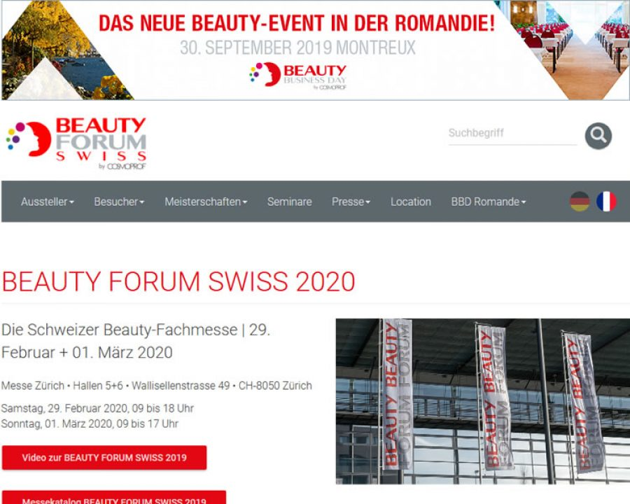 Bild BEAUTY FORUM SWISS 2020