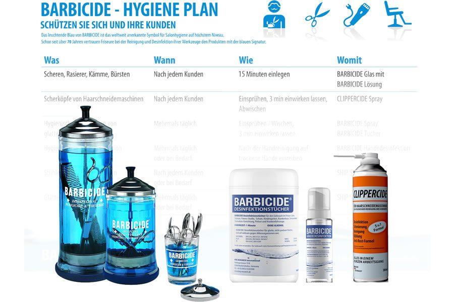 Desinfektions- und Hygiene Plan von BARBICIDE