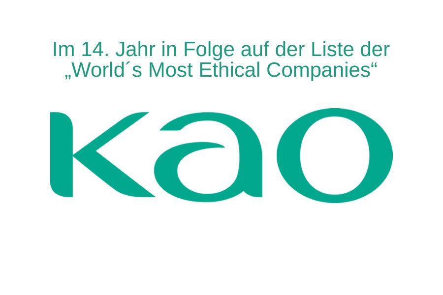 Kao erneut auf der Liste der ethischsten Unternehmen