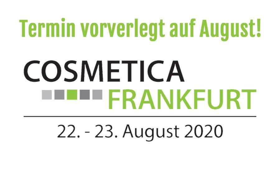 Verschiebung COSMETICA Frankfurt 2020