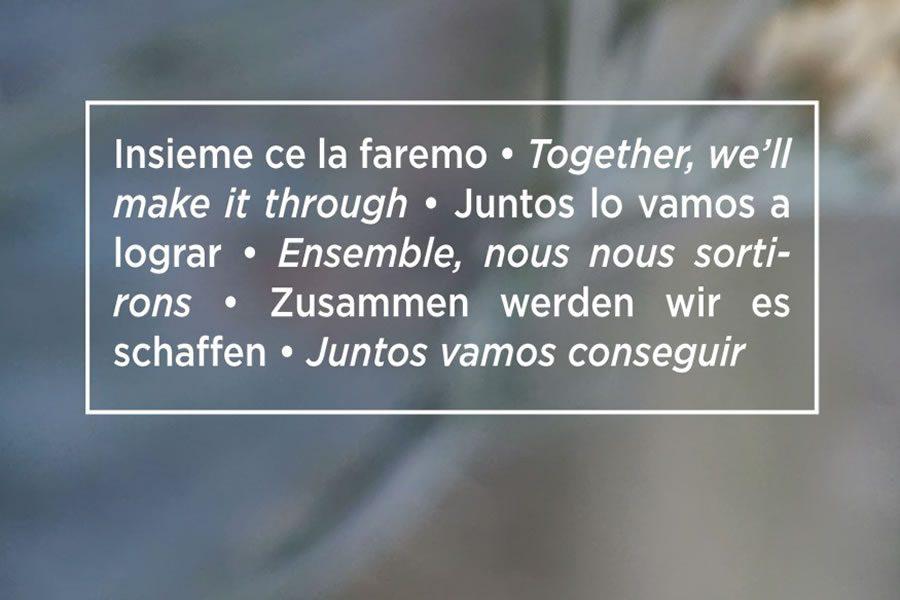 Zusammen werden wir es schaffen