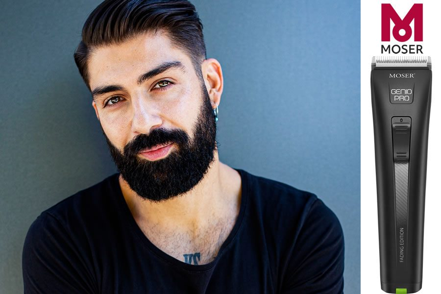 Bild Modern Side Part & Beard Look by MOSER