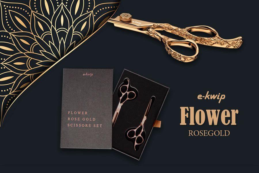e-kwip Flower Rosé Gold Set