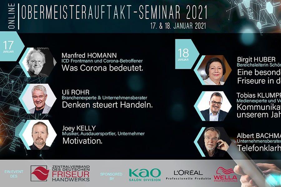 Obermeister-Jahresauftakt-Seminar 2021