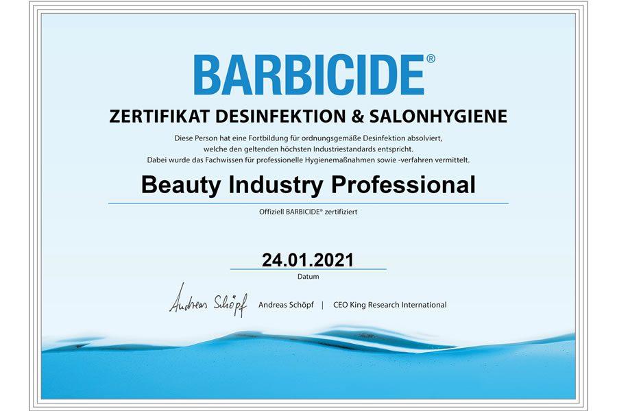 30.000 Friseure aus DACH machen BARBICIDE Zertifikat