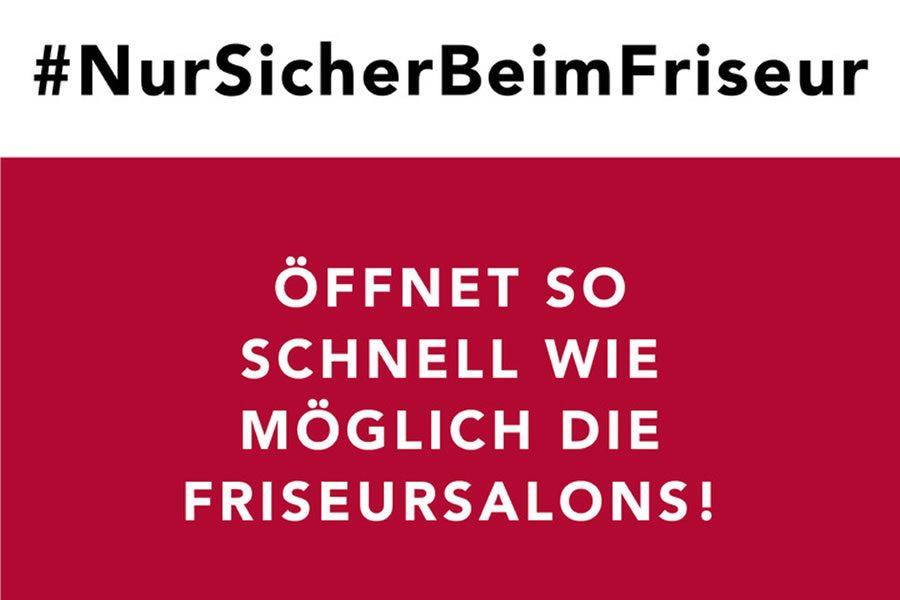 #NurSicherBeimFriseur - Kampagne von 12 betroffenen Unternehmern bewegt Deutschland