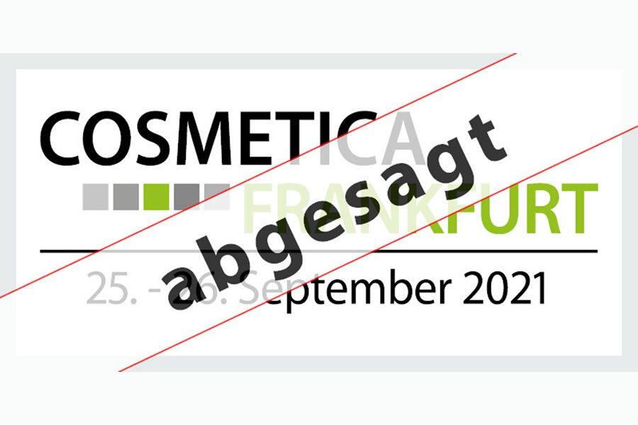 Die COSMETICA Frankfurt 2021 findet nicht statt