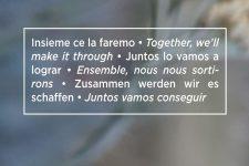 Zusammen werden wir es schaffen - Bild