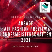 1 | Absage der Baden-Württembergischen Landesmeisterschaften der Friseure