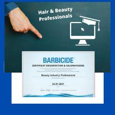 1 | 30.000 Friseure aus DACH machen BARBICIDE Zertifikat