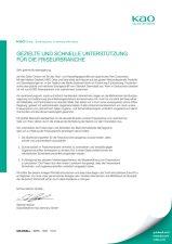 1 | Offener Brief der Kao Salon Division an die Bundesregierung