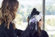 Frisuren-Trends 9 - Duble Ash Prism Lights Technik von Larissa Love