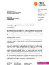 1   Umsetzung der Vorgaben für Friseursalons ab dem 1. März 2021